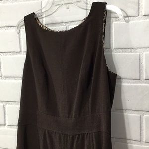 Nine West Fit Flare Tank Dress Brown 12